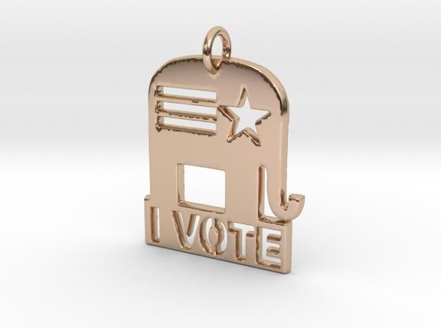 I Vote Elephant in 14k Rose Gold