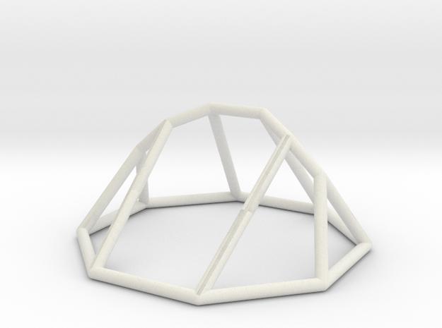 """Minimal """"irregular"""" polyhedron in White Natural Versatile Plastic: Large"""