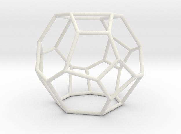 """""""Irregular"""" polyhedron no. 4 in White Natural Versatile Plastic: Large"""