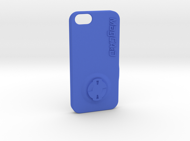 iPhone 5S & SE Wahoo Mount Case in Blue Processed Versatile Plastic