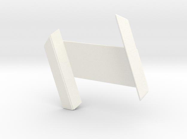 RDS Interlock - Receiver (solid) in White Processed Versatile Plastic