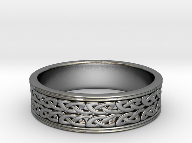 Double strand Celtic Knot Ring~size US 8 1/4 in Polished Silver: 8.25 / 57.125