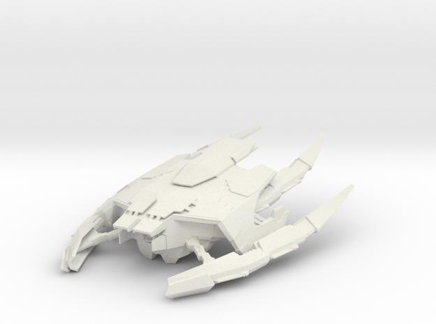 Elachi Qulash Frigate in White Natural Versatile Plastic