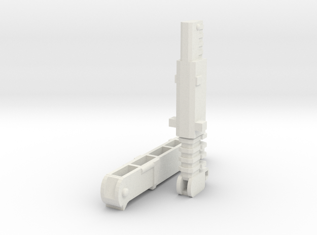 UW-CW Devastator Hook Crane in White Natural Versatile Plastic