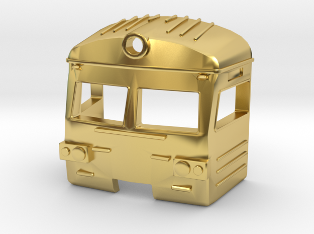 upgrade cap for er2t electric russian train  N Gau in Polished Brass: 1:160 - N