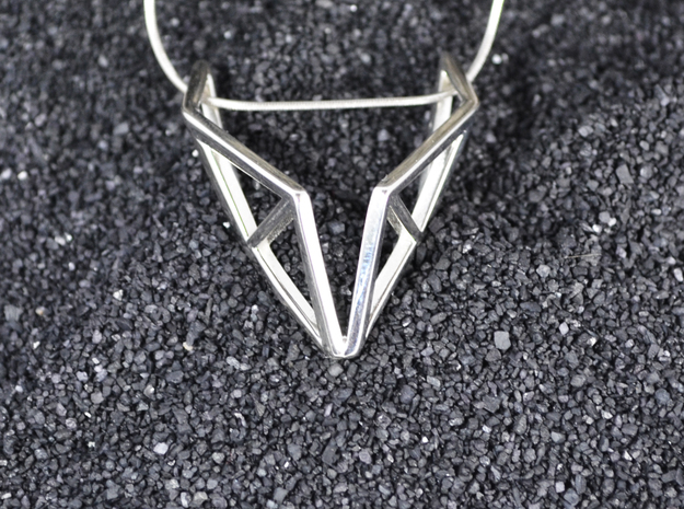 sWINGS Structura, Pendant in Polished Silver