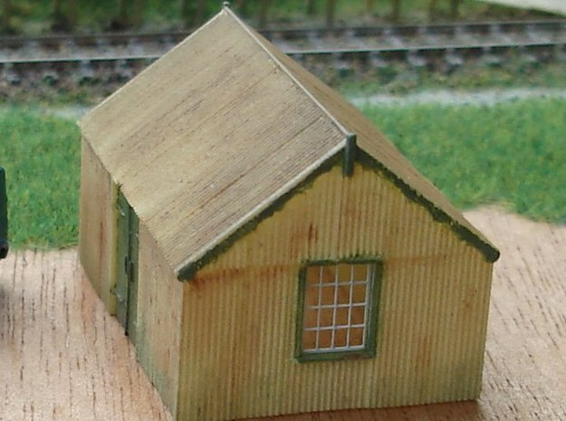 Corrugated Iron Shed 2mm/ft 1/152 (N scale)