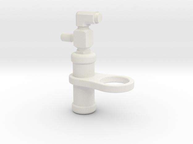 Pro-Line PowerStroke XL Shock Faux Accumulator in White Natural Versatile Plastic: 1:10