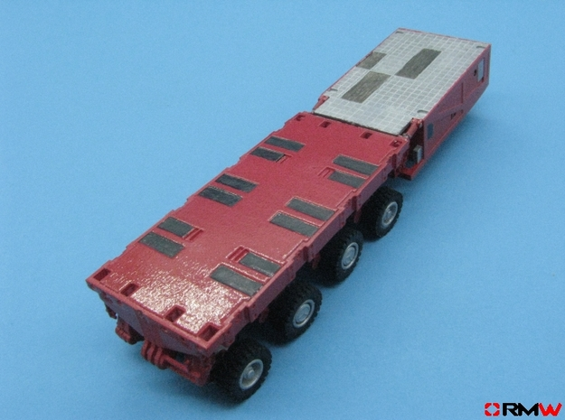 HO/1:87 spmt 4 axles with ppu in Smooth Fine Detail Plastic