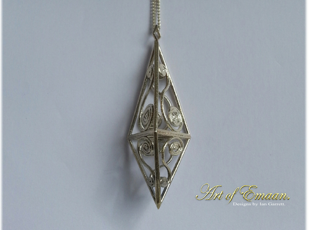 Spiral Prism in Natural Silver