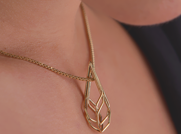 A-LINE Honeyunion, Pendant. Pure Elegance in 18K Gold Plated