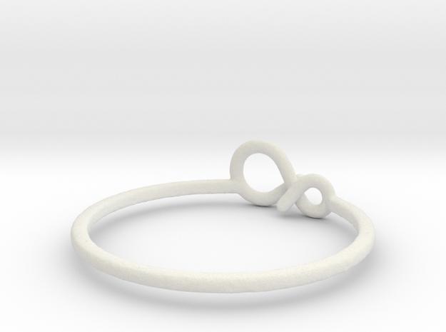 infinity_ring_voronoi in White Natural Versatile Plastic
