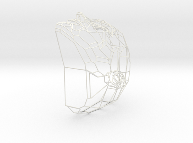Wire Head in White Natural Versatile Plastic
