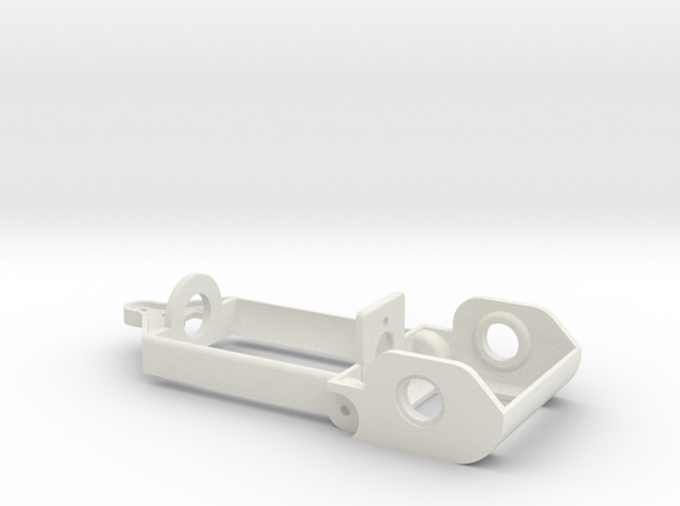 """D16 motor holder """"Back to '60"""" chassis in White Natural Versatile Plastic"""