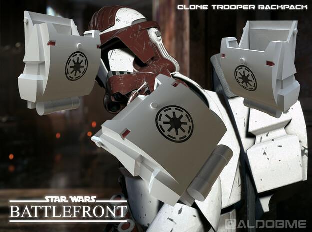 Clone Trooper Backpack in White Processed Versatile Plastic