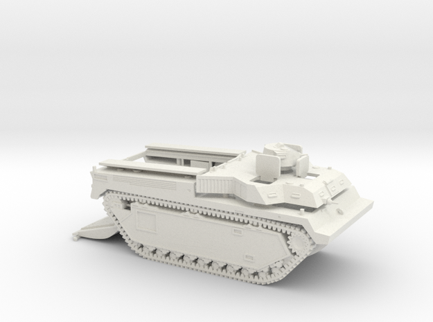 1/72 LVT-3C with open cargo bay in White Natural Versatile Plastic