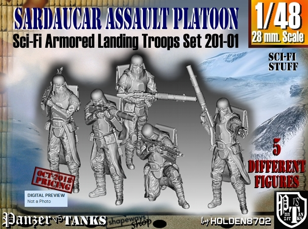 1/48 Sci-Fi Sardaucar Platoon Set 201-01 in Smoothest Fine Detail Plastic