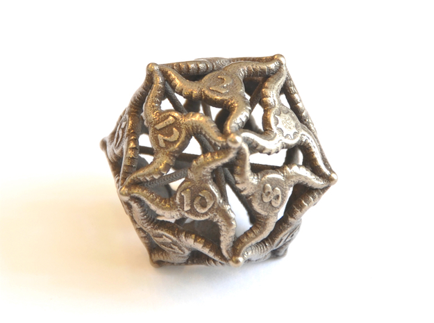 D20 Balanced - Tiefling in Polished Bronze Steel