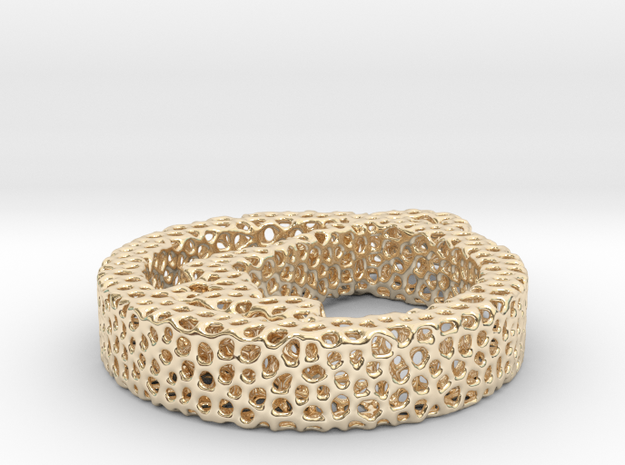 1ah_voronoi yoga in 14k Gold Plated Brass