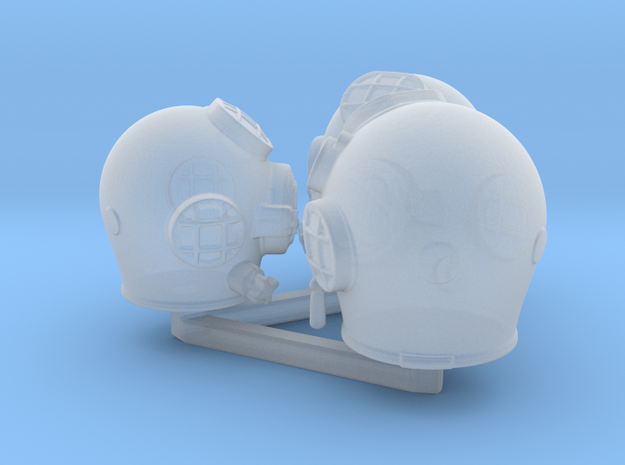 Diving helmet size test in Smooth Fine Detail Plastic