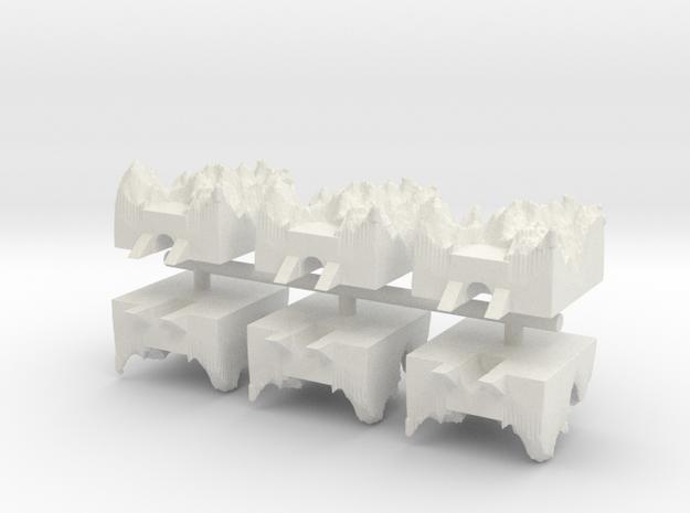 Underground Factory x6 in White Natural Versatile Plastic