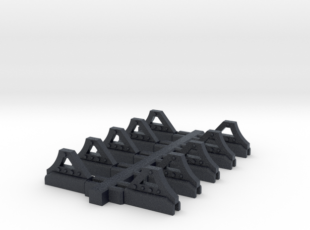 "HO Scale ""CSP"" Wheel  Stops in Black Professional Plastic"