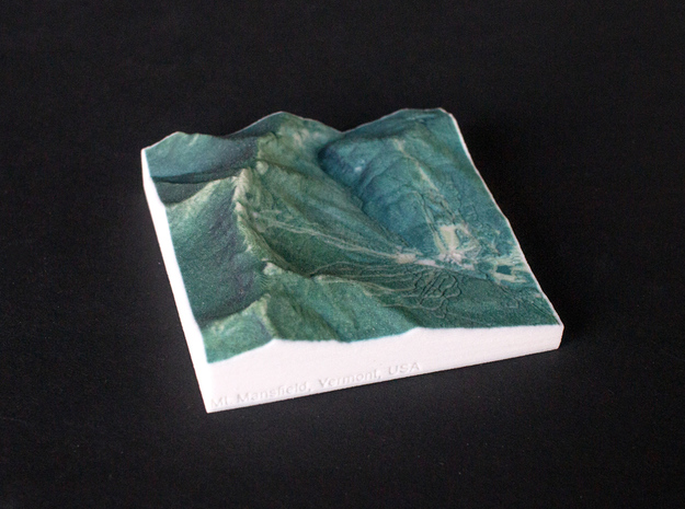 Mt. Mansfield, Vermont, USA, 1:50000 Explorer in Full Color Sandstone