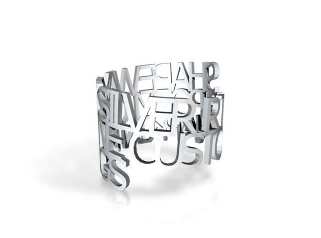 Ring Poem -zilver in Natural Silver