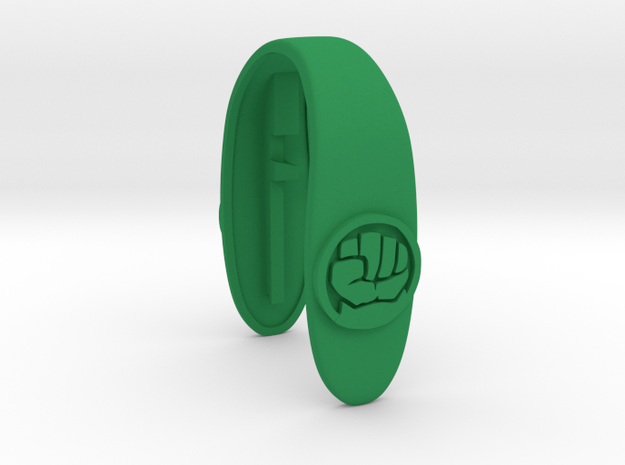 HULK KEY FOB  in Green Processed Versatile Plastic