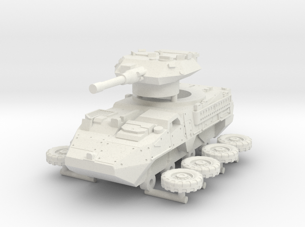Stryker Dragoon 30 mm RWS esc: 1:72 in White Natural Versatile Plastic
