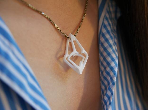 """head to head, heart to heart"" HEARTRON, pendant 3d printed"