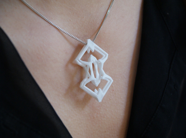 """head to head, heart to heart"" STELLAR, pendant 3d printed"