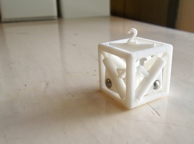 Pop-Up Dice in White Processed Versatile Plastic