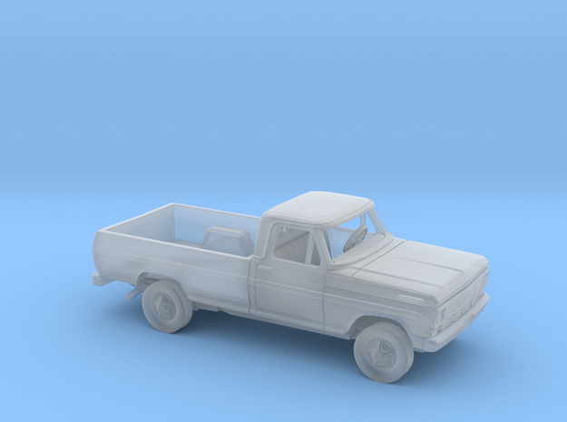 1/87 1967-69 Ford F-Series Reg Cab Long Bed Kit in Smooth Fine Detail Plastic