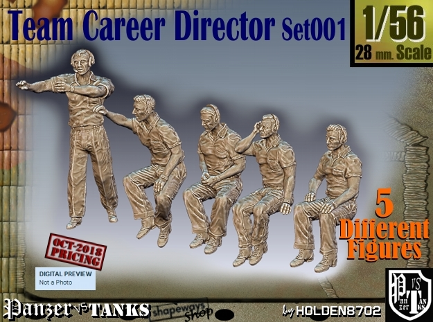 1/56 team career director Set101 in Smooth Fine Detail Plastic