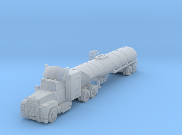 Mack R series Convoy Truck fuel in Smoothest Fine Detail Plastic: 6mm
