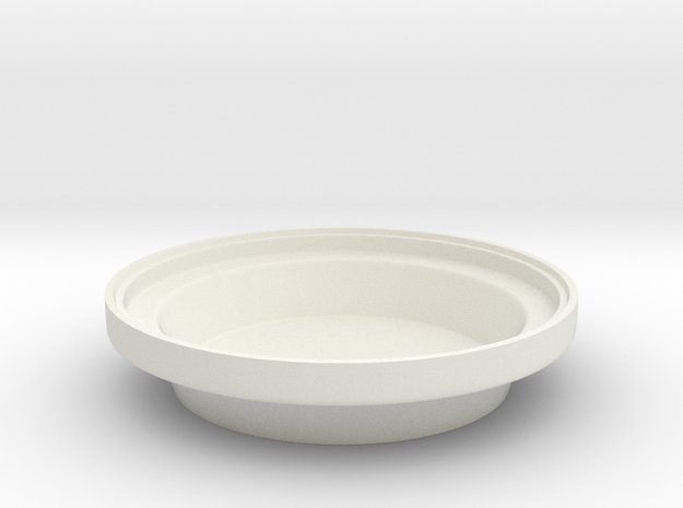 Donut ashtray base in White Natural Versatile Plastic