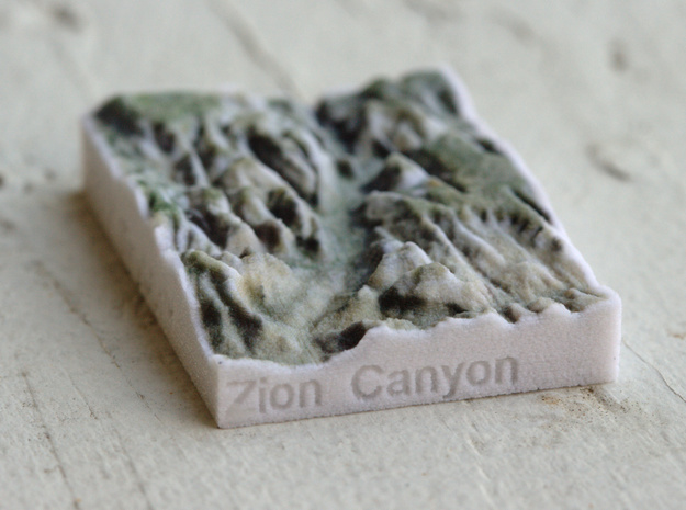 Zion Canyon, Utah, USA, 1:250000 Explorer in Full Color Sandstone