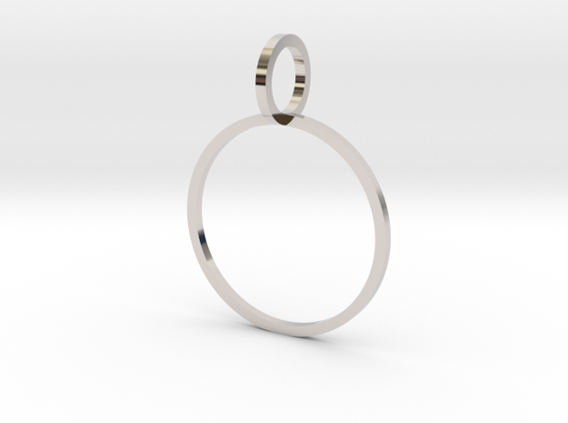 Charm Ring 18.53mm in Platinum