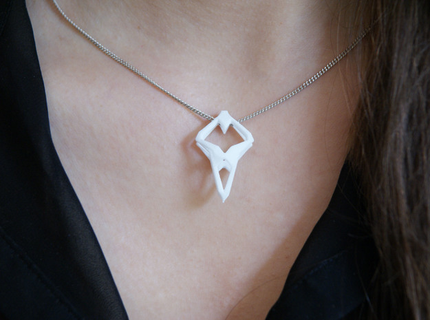"""head to head, heart to heart"" PROTOTYPE, pendant 3d printed"