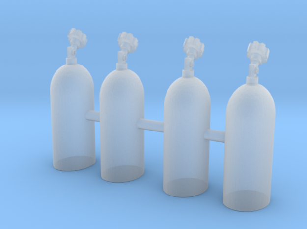 Set of 32 - NOS Bottles upright two sizes in Smooth Fine Detail Plastic