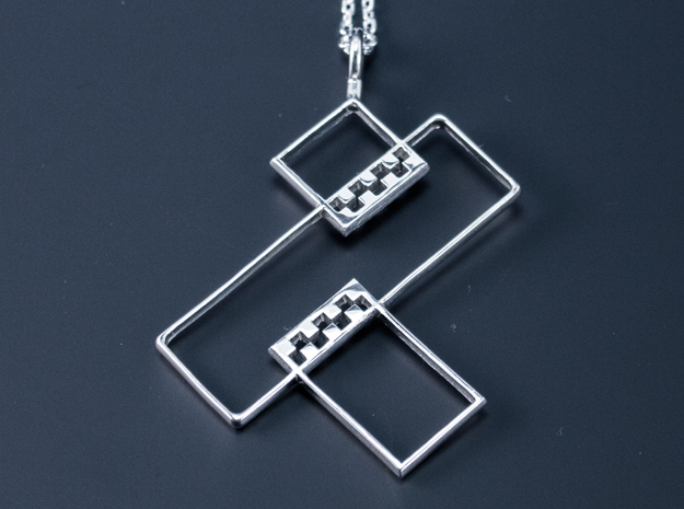 Auspicious Pendant in Polished Silver