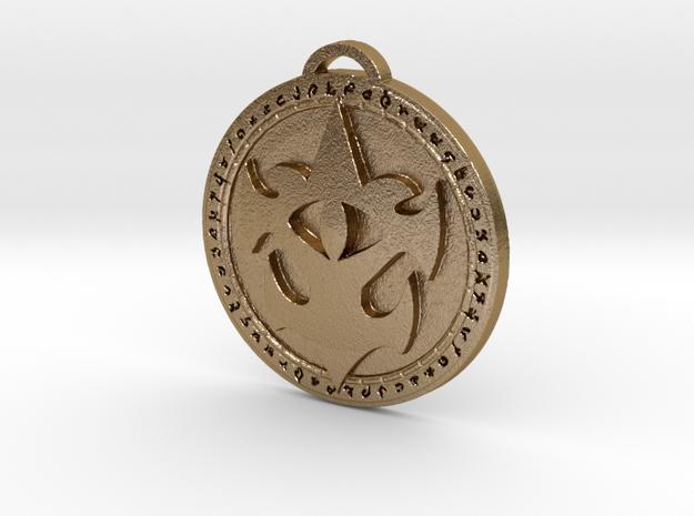 Kul Tiras - Stormsong Faction Pendant in Polished Gold Steel