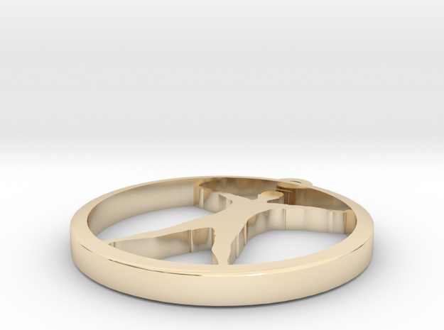 yoga (3) in 14k Gold Plated Brass