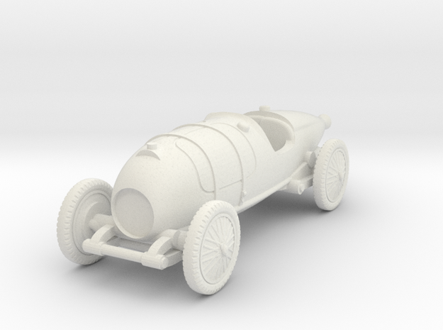 1/72 Bugatti 29/30 in White Natural Versatile Plastic