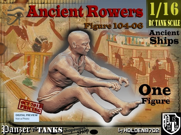 1/16 Ancient Rower fig104-06 in White Natural Versatile Plastic