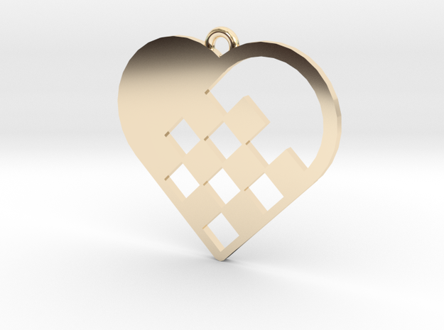 Swedish Heart Necklace in 14k Gold Plated Brass