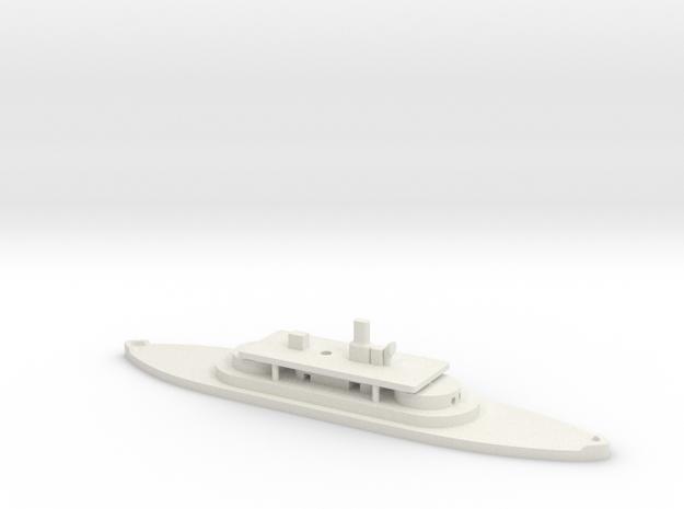1/1250 Cerberus-class (1868/1870) Gaming Model in White Natural Versatile Plastic