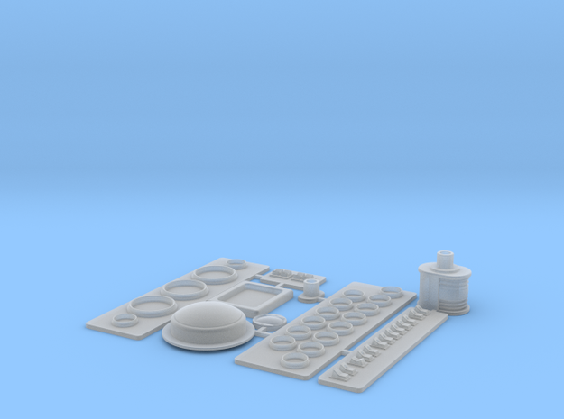 SC38 fitting Set II 1:5 in Smooth Fine Detail Plastic
