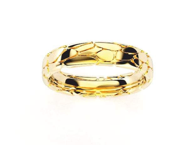 Wedding Ring Philharmonie 5 mm in 18k Gold Plated Brass: 8.5 / 58
